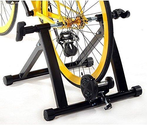 Entraineur Réglable Turbo Magnétique pour Vélo, Ohuhu Support de Vélo d'exercice en Acier Magnétique