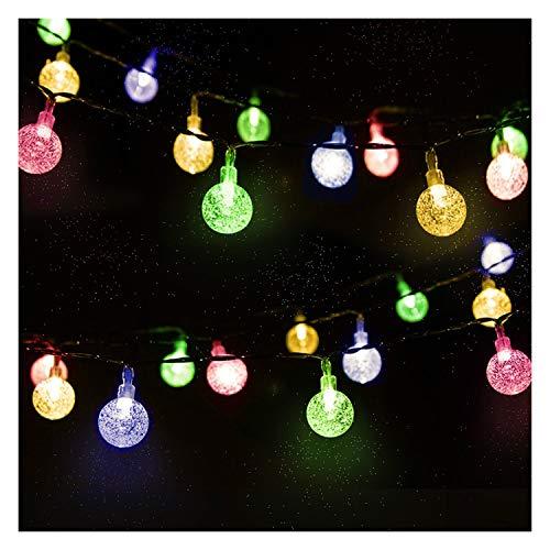 Catena Luminosa, Mr.Twinkelight 4.5M 30LED Luce Stringa Solare di Crystal Globe, Luce Esterno Ideale per Decorazioni di Natale, Feste, Vacanze, Cortili, Pergole, Impermeabile IP65 (Multi-colore)