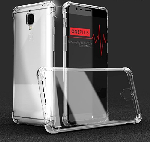 Bracevor Hybrid Clear Protection Case Cover For OnePlus 3/One Plus 3T,Transparent