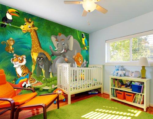 Dschungel Tiere Fototapete Dschungel Mit Tieren Wandbild Xxl