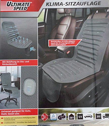 Preisvergleich Produktbild Klima-Sitzauflage mit Gebläse für Auto,  Stuhl,  Sessel Ideal für Büro,  Zuhause oder Unterwegs