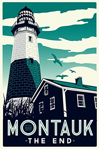 montauk-the-end-wonderful-a4-glossy-art-print-taken-from-a-rare-vintage-travel-poster
