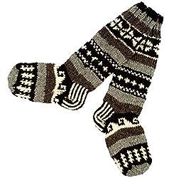 Guru-Shop Handgestrickte Schafwollsocken, Nepal Socken 38/39, Herren/Damen, Mehrfarbig, Wolle, Size:One Size, Socken & Beinstulpen Alternative Bekleidung