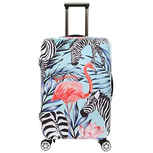 Custodia protettiva per bagaglio da viaggio con stampa 3D Fenicottero Design Custodia da 22'-24' protezione antipolvere per valigia con tag per bagaglio