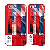 Official Team GB British Olympic Association White Square Geometric Union Jack Red Fender Case for iPhone 6 Plus/iPhone 6s Plus