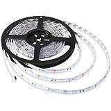 Aglaia Tira LED de Luz RGB 5M, 150 Unidades 5050 SMD LED, Impermeable IP65 y Kit Completo con 24 Tecla IR Remoto y Adaptador, Ideal para Decoración del Partido Fiesta.