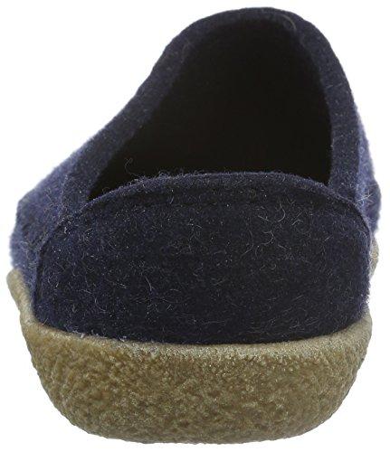 Haflinger Credo Unisex-Erwachsene Flache Hausschuhe Blau (Kapitän 79)