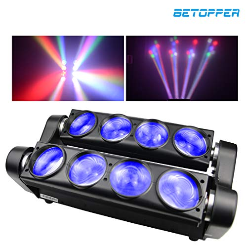 BETOPPER(LM80) Cabeza movil DMX profesionales 8 * 8W LEDs mini spider RGBW...