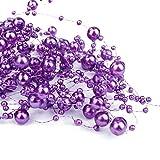 6,5 m Perlengirlanden Lila - Perlengirlande Dekoschnur Perlenkette