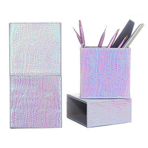 Born Pretty 1Pc Cosmetic Brush Holder Storage Case Pen Organizer Mermaid Fish Scale Bag Toolfor Makeup and Manicure #3