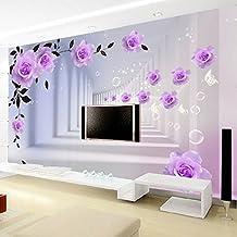 Leegt 3D Tapete Wallpaper Mural Custom 3D Abstract Fototapete Europäischen  Lila Rosen Flur Wohnzimmer Schlafzimmer Tv