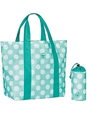 Lässig LSFSHOU305-00 Splash und Fun Beach Shopper - dots aqua, mehrfarbig