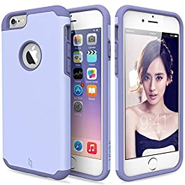 ULAK iPhone 6 Case, iPhone 6S Case Dual Layer Shockproof [Drop Protection] Slim Hybrid Impact Skin Case Cover for Apple iPhone 6 6S(4.7 Inch)