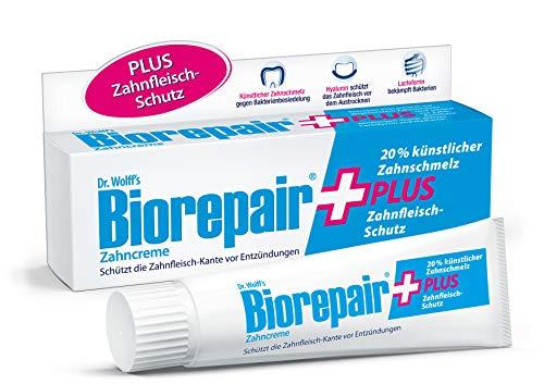 Biorepair Zahncreme Plus, 4 x 75ml - Mit künstlichem Zahnschmelz und Zahnfleisch-Schutz