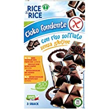 Probios Rice&Rice Chocolate Amargo con Arroz Inflado - Paquete de 12 x 75 gr - Total
