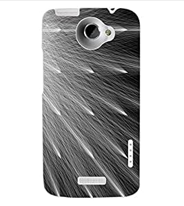 ColourCraft Abstract Design Back Case Cover for HTC ONE X