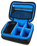 Dunkelblaue Tasche mit hartem Boden für Rollei Actioncam 550 Touch | 630 | 625 | 610 | 530 | 525 | 510 | 426 | 416 | 420 | 410 | 400 | 300, Sportsline 80 und Add Eye Cam Action Kameras
