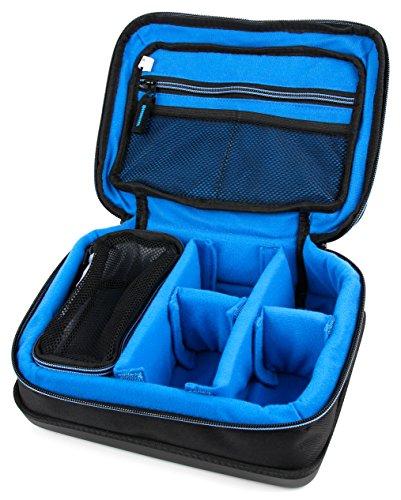 DURAGADGET Dunkelblaue Tasche mit hartem Boden für Rollei Actioncam 550 Touch | 630 | 625 | 610 | 530 | 525 | 510 | 426 | 416 | 420 | 410 | 400 | 300, Sportsline 80 und Add Eye Cam Action Kameras