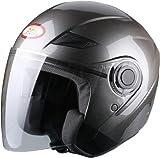BHR Helm Demi-Jet, Metallisches Titan, 57-58 (M)