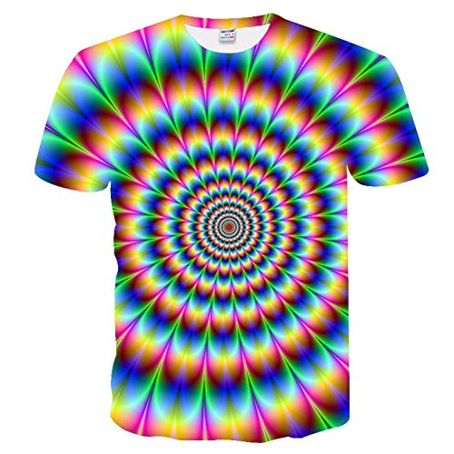 ZCYTIM Hohe qualität Kühle T-Shirt Männer Frauen heißer 3D Tshirt Drucken Aquarell Regenbogen Kreis malerei Kurzarm Sommer Tops Tees Mode -