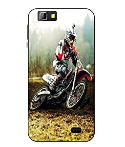 Case Cover Racing Bike Printed Multicolor Soft Back Cover For LYF Wind 5