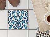 creatisto Bodenbelag Fliesen renovieren | Dekorativ-Dekorsticker Küchenfliesen Bad-Folie Badezimmergestaltung | 30x30 cm Muster Ornament Hamam-Vibes - 1 Stück
