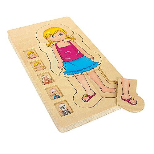 Holzpuzzle Anatomie Mädchen, 29-tlg. Puzzle, spielerisches