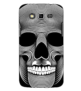 Fuson Designer Back Case Cover for Samsung Galaxy Grand I9082 :: Samsung Galaxy Grand Z I9082Z :: Samsung Galaxy Grand Duos I9080 I9082 (Face Skeletal Theme )