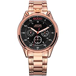 YPS Men Number Nail Shape Scale Quartz Movement Multifunction Sub Dials Luminous Wristwatch WTH5371