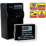 LOOkit Chargeur + 1x LOOKit Premium Batterie BLC12- 1050mAh -- LI-ION -- pour Panasonic FZ300 FZ1000 FZ200 G5 G6 GX8