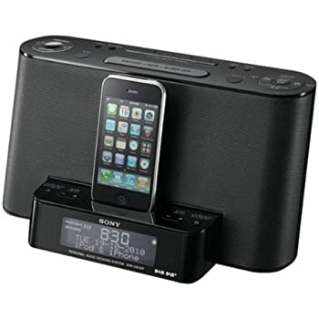 sony xdrds12ip ipod iphone speaker dock with clock radio function hi fi speakers. Black Bedroom Furniture Sets. Home Design Ideas