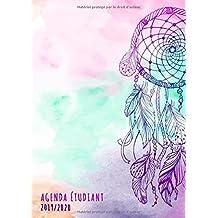 Agenda étudiant 2019 - 2020: Agenda Semainier et Agenda Scolaire pour l'année Scolaire de Août 2019 à Août 2020 - Motif Boho Chic (Agenda Journalier 2019/2020)