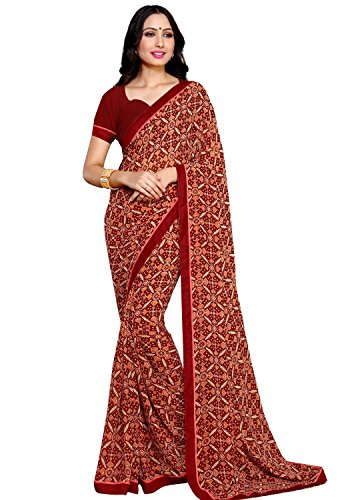 Alveera Latest Collection Digital Printed Laced Border Georgette Free Size Saree With...