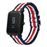Wokee Armband für Xiaomi Huami Amazfit Bip Sport Ersatzarmband mit Verschluss Segeltuch-Uhrenarmband-Bügel mit Schnallen-Verbindungsstück für Xiaomi Amazfit Sport Smartband