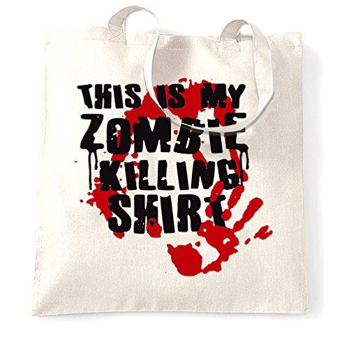 Questo è il mio zombie uccisione walking dead horror undead slogan sangue sacchetto di tote