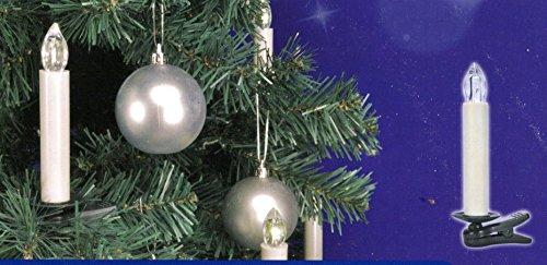 10 kabellose LED Weihnachtsbaumkerzen mit Fernbedienung für Innen und Aussen, inkl. Batterien, Christbaumkerzen