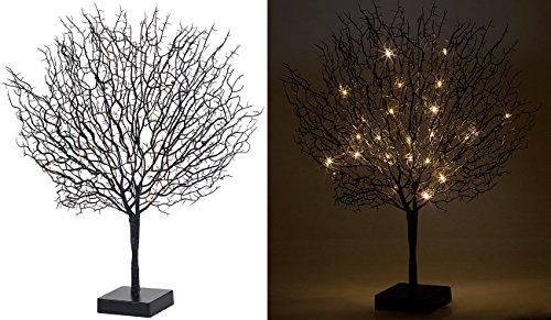 Lunartec Leuchtbaum: Moderner Lichterbaum mit 25 warmweißen LEDs, 50 cm, schwarz (Baum LED)