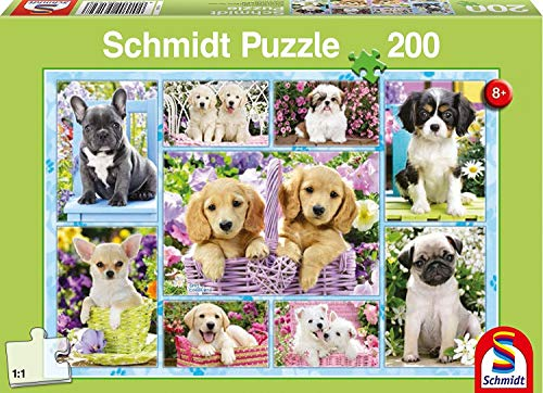 Schmidt Spiele Puzzle 56162 Welpen, 200 Teile