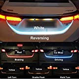 #3: Fabtec Streamer Brake Turn Signal Flow LED Strip Trunk Light (Triple Color) For Universal Car Model
