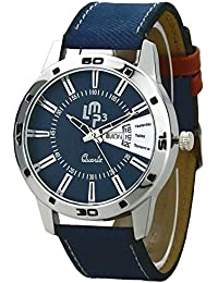 LMP3 Day & Date Series Blue Dial Blue Denim Jeans Leather Strap Analogue Wrist Watch For Girls & Womens (LMP3-...