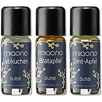 Duftöle von miaono - Wunderbare Welt der Düfte - Aromaöle für himmlichen Raumduft (Lebkuchen-Bratapfel-Zimt/Apfel... preisvergleich bei billige-tabletten.eu