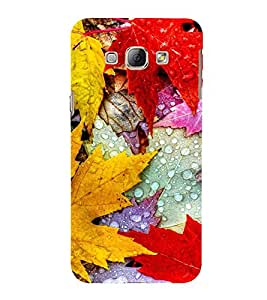 Colourful Autumn Leaves 3D Hard Polycarbonate Designer Back Case Cover for Samsung Galaxy A8 (2015 Old Model) :: Samsung Galaxy A8 Duos :: Samsung Galaxy A8 A800F A800Y
