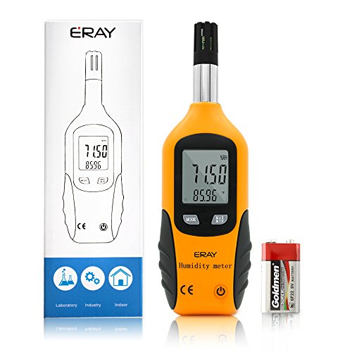 Sunray Psychrometer Thermo-Hygrometer Digital Temperatur und Luftfeuchtigkeit Meter Thermometer Hygrometer mit Taupunkt und Feuchtkugel