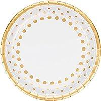 Brillo & Shine 50th Golden Anniversary papel fiesta platos llanos x 8