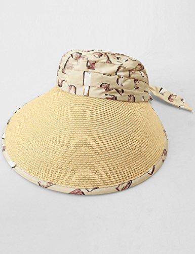 Chapeau de soleil extérieur Big Sunny Roof Beach Sandales de plage Chapeau de soleil pliable ( Couleur : 1 ) 3