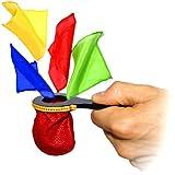 Zaubertricks und Zauberartikel Change Bag Mini Plus, Miniatur Changierbeutel für Zaubertricks inkl. aller Seidentücher