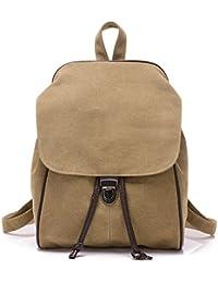 BYD - Mujeres School Bag Bolsos mochila Bolsa de viaje Canvas Bag Carteras de mano Bolsos bandolera with Mutil Function Pocket and 1 Lock Clap