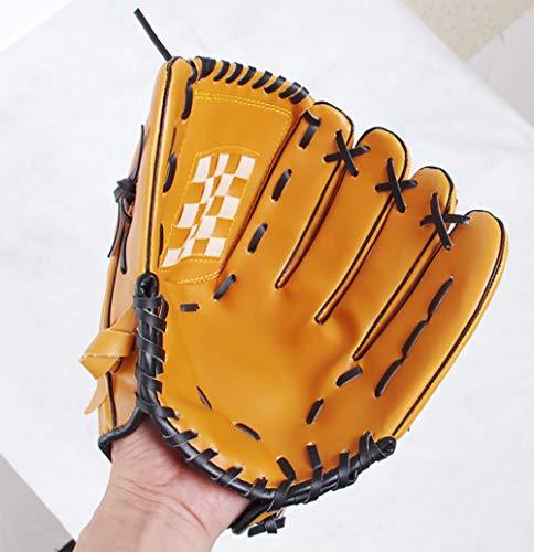 uh Sport Ball Handschuh-Schwarz, Blau & Khaki Outdoors Batting Handschuhe Für Kinder Und Erwachsene Catcher's Mitt,Khaki ()