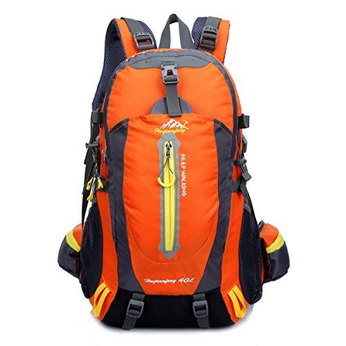 Outdoor Sport Rucksack 40L Bergsteigen Tasche Camping Daypack Reise Schulter Tasche Orange