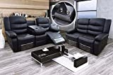 Romano 2+3 Seater Sofa Set Recliners Bonded Leather